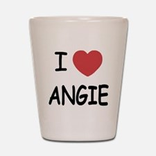I heart angie Shot Glass