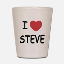 I heart steve Shot Glass