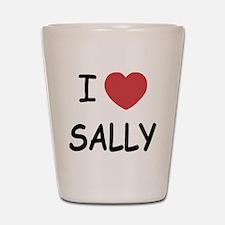 I heart sally Shot Glass
