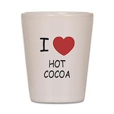 I heart hot cocoa Shot Glass