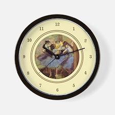 Ballet in Blue, Degas Wall Clock