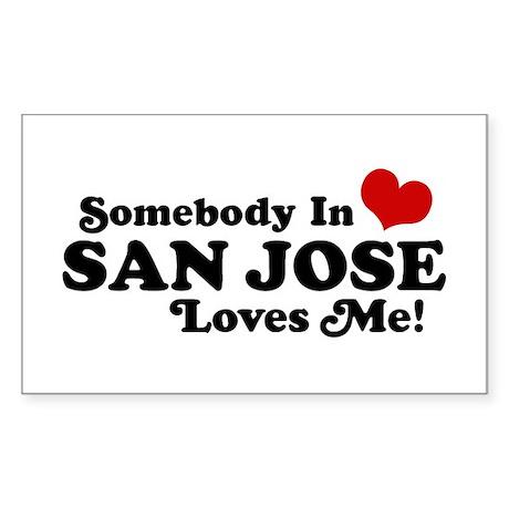 San Jose Sticker (Rectangle)