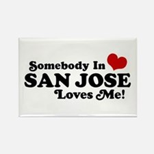 San Jose Rectangle Magnet
