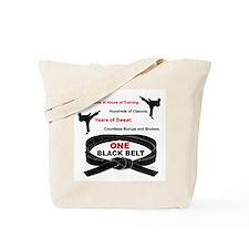 ONE Black Belt Tote Bag