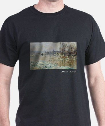 Monet, Breakup of Ice, 1880, T-Shirt