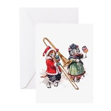 Cats Play Music in the S Greeting Cards (Pk of 20)