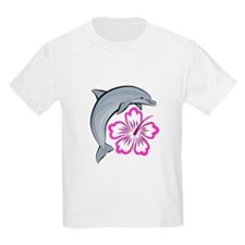 Dolphin-flower-pink T-Shirt