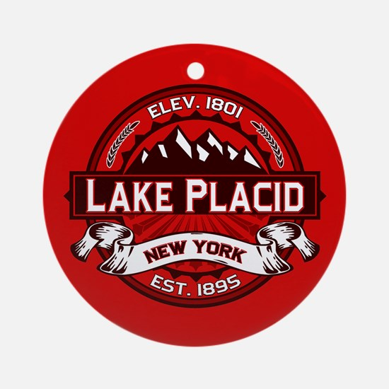 Lake Placid Red Logo Ornament (Round)