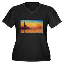 San Giorgio Maggiore, Monet, Women's Plus Size V-N