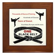ONE Black Belt Framed Tile