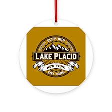 Lake Placid Tan Logo Ornament (Round)