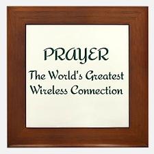 Prayer - World's Greatest Wir Framed Tile