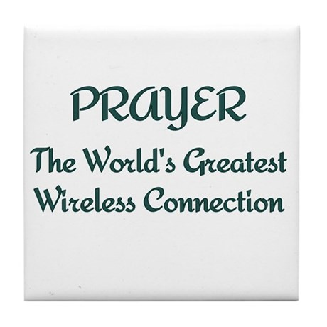Prayer - World's Greatest Wir Tile Coaster
