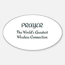 Prayer - World's Greatest Wir Sticker (Oval)