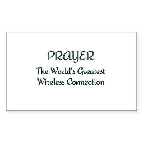 Prayer - World's Greatest Wir Sticker (Rectangle)