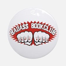 Badass Book Club Ornament (Round)