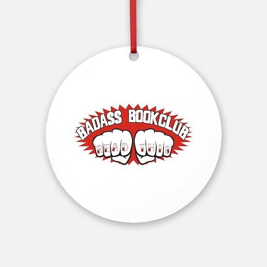 Badass Book Club Ornament (Round)