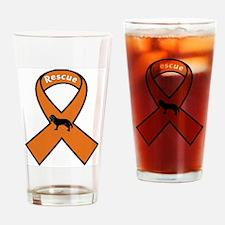Cavalier Rescue Ribbon Drinking Glass