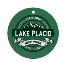 Lake Placid Forest Ornament (Round)