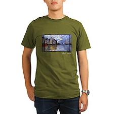 Monet Painting, Sailboats, 1864-66, T-Shirt
