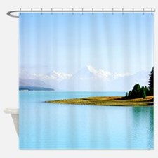 Southern Alps Aoraki NZ Shower Curtain