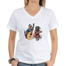 Cats Play Music in the Snow Shirt