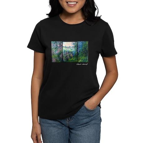 Monet Masterpiece, Women's Dark T-Shirt