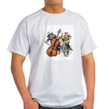 Cats Play Music in the Snow T-Shirt