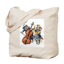 Cats Play Music in the Snow Tote Bag