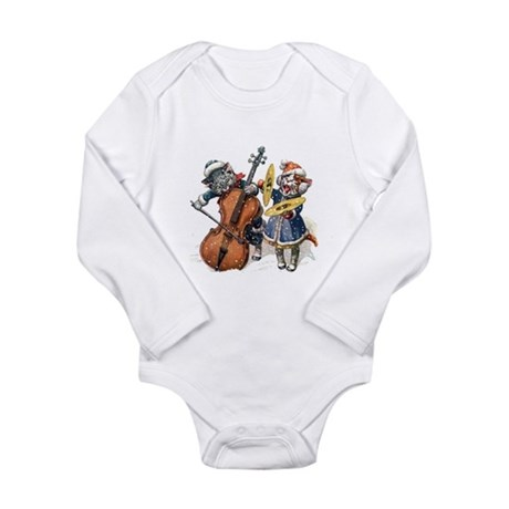Cats Play Music in the Long Sleeve Infant Bodysuit
