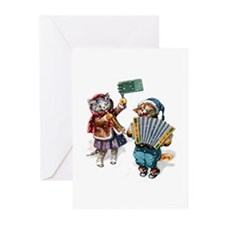Cats Play Music in the S Greeting Cards (Pk of 10)
