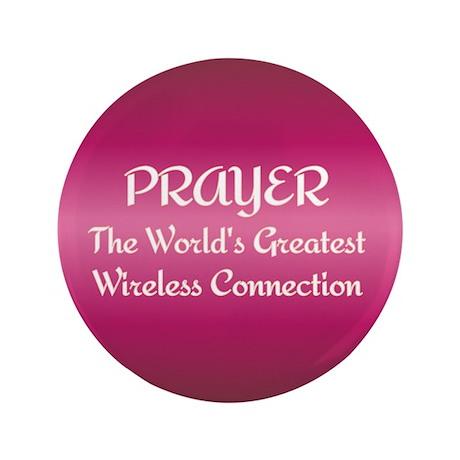 """Prayer - World's Greatest Wir 3.5"""" Button"""