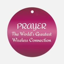 Prayer - World's Greatest Wir Ornament (Round)