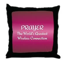 Prayer - World's Greatest Wir Throw Pillow