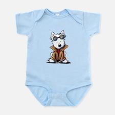 Steampunk Westie Infant Bodysuit