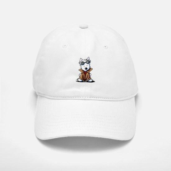 Steampunk Westie Baseball Baseball Cap