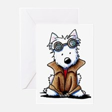 Steampunk Westie Greeting Cards (Pk of 20)