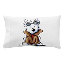 Steampunk Westie Pillow Case