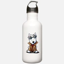 Steampunk Westie Water Bottle