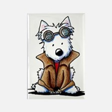 Steampunk Westie Rectangle Magnet