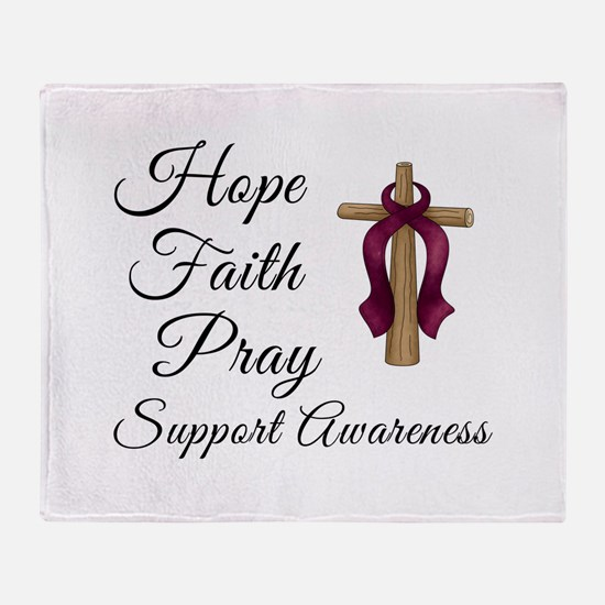 Hope Faith Prayer Throw Blanket