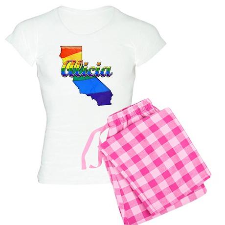Alicia, California. Gay Pride Women's Light Pajama