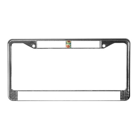 Sunflowers, bright, happy, ar License Plate Frame