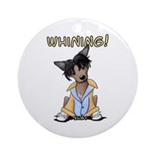 Chinese Crested WHINING! Ornament (Round)