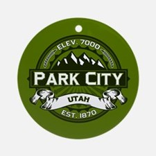 Park City Olive Ornament (Round)