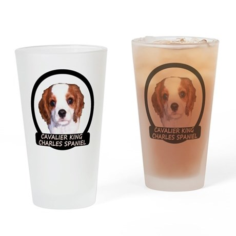 Cavalier Puppy Drinking Glass
