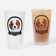 Cavalier Puppy Drinking Glass