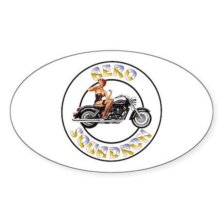 Aero Squadron Oval Sticker