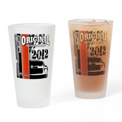 Original Muscle Car Red Drinking Glass