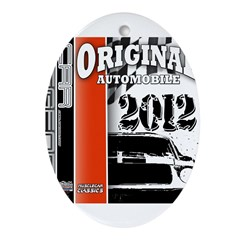 Original Muscle Car Red Ornament (Oval)